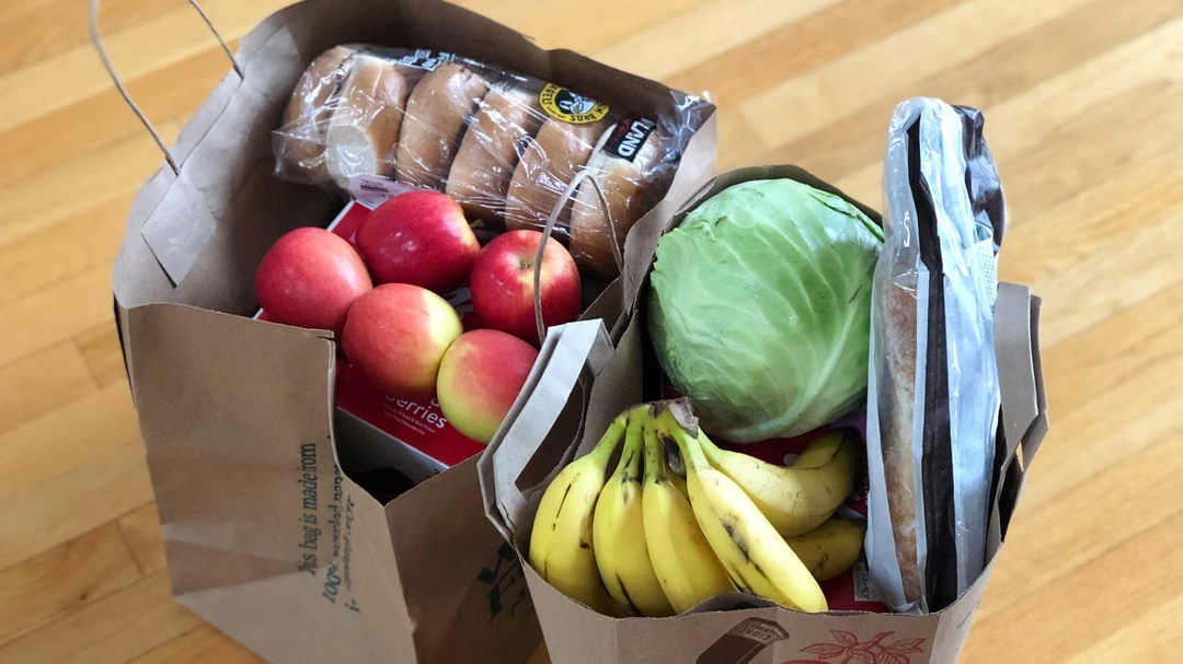 Provide groceries for a family for 4 weeks